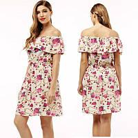 Платье Бежевый цвет розы
