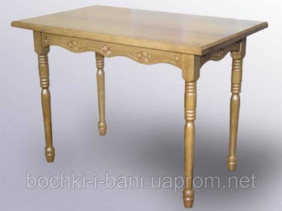 Стол кухонный прямоугольный из массива дерева, фото 2