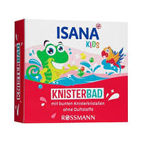 ISANA Kids Knisterbad - Разноцветные кристаллы с треском для купания ребенка в ванной, 15 г, 3 пакетика x 5 г