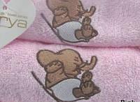 Набор махровых полотенец 40х60+50х100 - 2шт. Arya  Elephant розовый