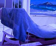 Полотенце  махровое однотонное 100х150 Arya Miranda синий