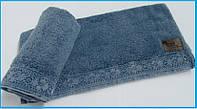 Махровое полотенце  с кружевом 70х140 Arya Stone Wash голубое