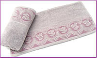 Махровое полотенце   Arya  Bella лиловый 70х140