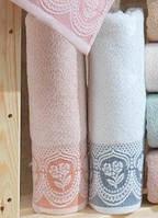 Махровое полотенце   Arya  Bella белое 70х140
