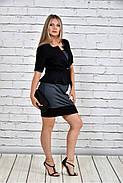 Женский жакет баска 0305 цвет черный до 74 размера, фото 2