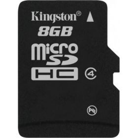 Карта памяти Kingston microSD 8 GB Class 4