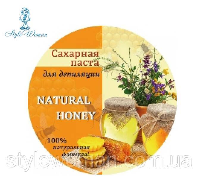 Органическая паста для шугаринга натуральная медовая средней плотности 350гр