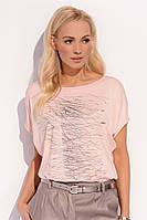 Летняя футболка с коротким рукавом персикового цвета Sonia Zaps