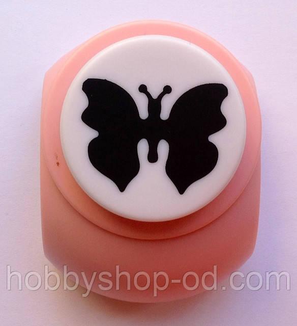 Дирокол фігурний Метелик 3,8 см кнопка