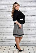 Женский классический жакет 0310 цвет черный до 74 размера, фото 3