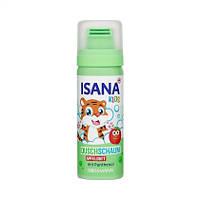 ISANA Kids Duschschaum Apfel 50 ml - Детская цветная пена для игры в ванной с ароматом яблока, 50 мл