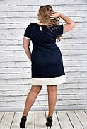 Женское стильное платье 0307 цвет белый до 74 размера / большие размеры, фото 3