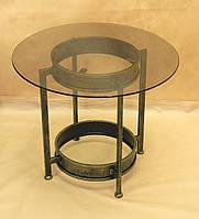 Стол стекло СС-09 (металл, стекло), фото 1