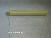 Органза флористическая на метраж,цвет молочный (ширина 35см)