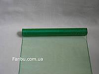 Органза флористическая на метраж,цвет зеленый изумруд (ширина 35см)