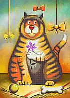 Схема вышивки бисером Оранжевый кот