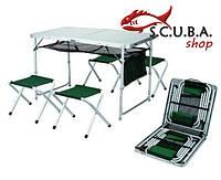 Комплект Скаут стол большой + 4 стула ТА-21407