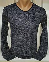 Мужской свитер v-образный вырез меланж