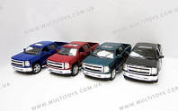 "Модель джип 5"" KT5381W 2014 Chevrolet Silverado метал.инерц.открыв.дв.кор.ш.к./96/(KT5381W)"