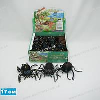 Силиконовый паук 17 см 4 вида 6 шт. в пакете /24/(A021P)