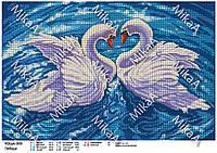 """Схема для полной зашивки бисером - """"Лебеди"""" А3"""