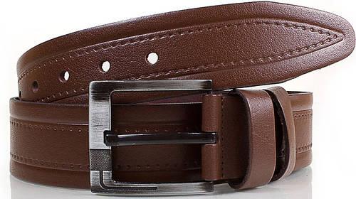 Замечательный кожаный мужской ремень Y.S.K. (УАЙ ЭС КЕЙ) SHI3018-10, коричневый