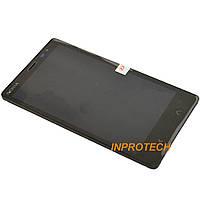 Дисплей (LCD) Nokia X2 Dual Sim, RM-1013 с сенсором и рамкой Black Original