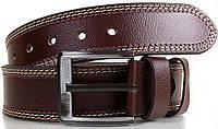 Строгий мужской кожаный ремень 4,6 см. Y.S.K. (УАЙ ЭС КЕЙ) SHI912-10, коричневый