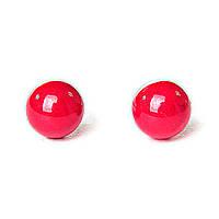 """Серьги """"гвоздики"""" шарик Ø-8mm природный камень Коралл (преc)"""
