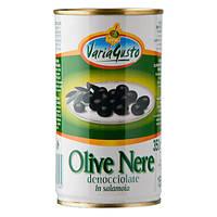 Оливки черные без косточек Varia Gusto 350гр. (Италия)