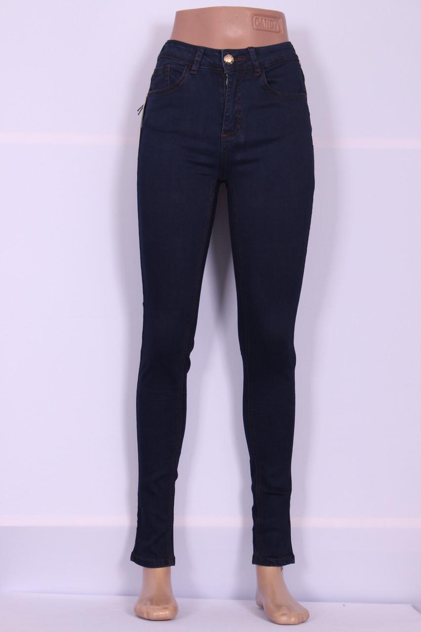 Жіночі джинси LDM ( код 8761) великих розмірів з високою посадкою вузькі