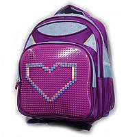 """Рюкзак школьный LEGO фиолетовый девочка  (30х40 см) серии """"UPIXEL""""  с карманом принт звездочка"""