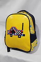 """Рюкзак садик унисекс желтый  (30х25 см) серии """"UPIXEL""""  звездочка  с карманом LEGO стильный"""