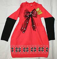 Платье вязанное 3-4-5-6 лет Вышиванка