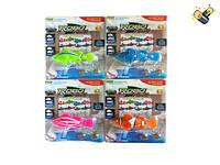 """Рыбка """"ROBO fish"""" (арт. 8888-1), 4 вида,пластик,батар,блистер,15x11x2.1cм, Jambo (100772023)"""