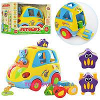 Развивающиеся музыкальная машинка Limo Toy сортер Автошка 9198