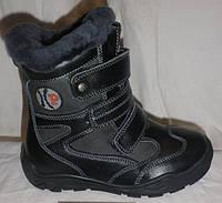Классные зимние кожаные ботинки
