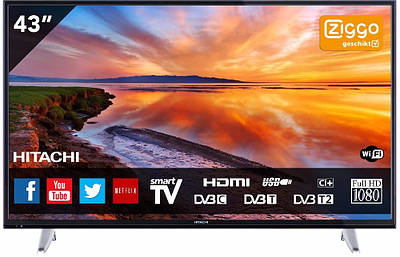 Телевизор Hitachi 43HB6T62 Smart T2 Full HD WiFi