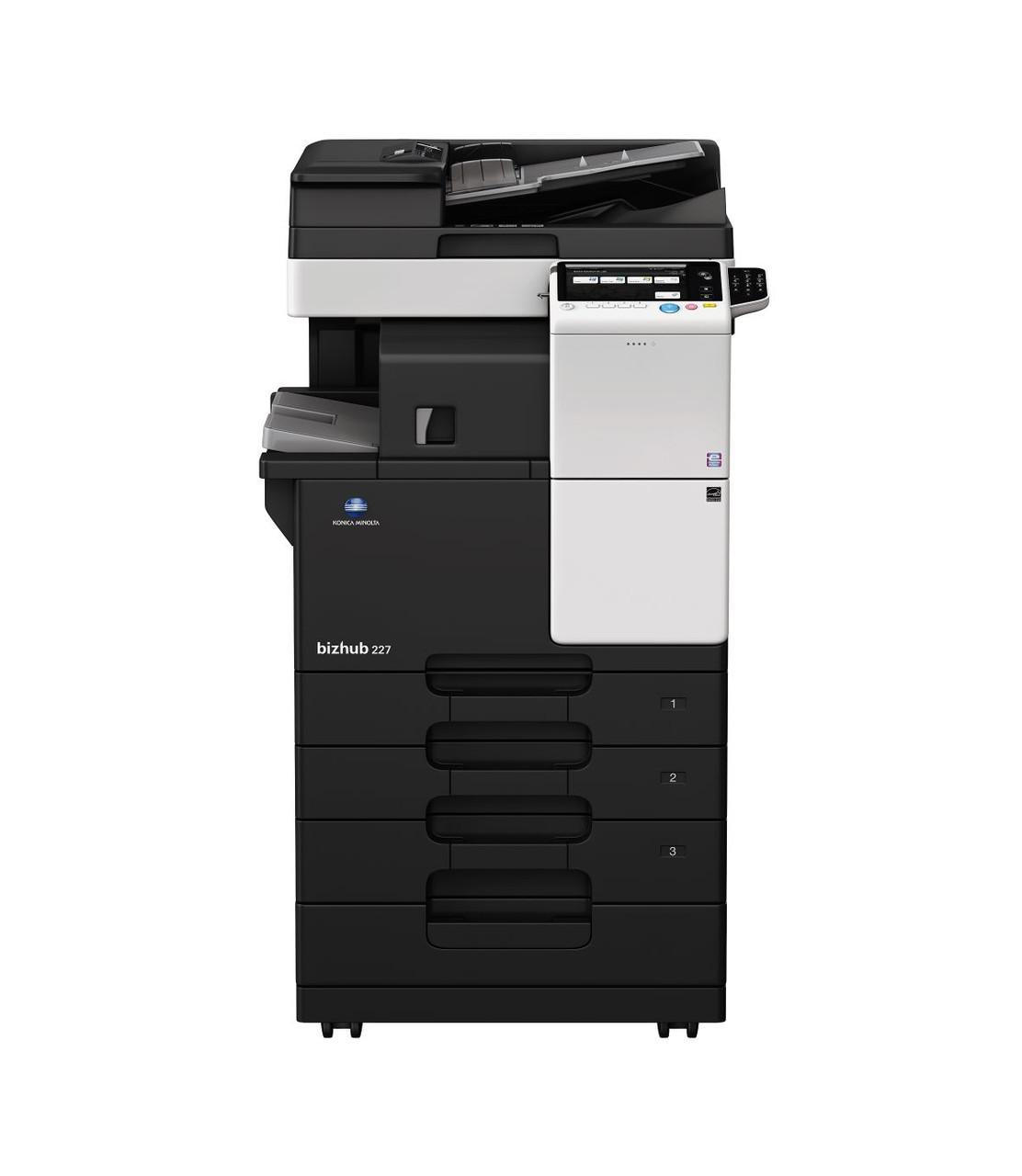 Konica Minolta bizhub 227, монохромное МФУ, А3, 22 стр./мин, копир, сетевой принтер, сканер, дуплекс