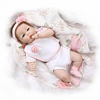 Силиконовая кукла реборн девочка младенец 55см. (Арт. 555)