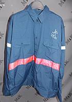 Рубашка мужская со светоотражающей полосой