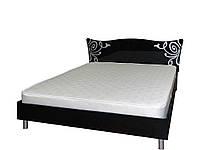 Кровать 2-сп Фелиция Новая черный лак (Світ Меблів TM)