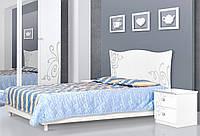 Кровать 2-сп Фелиция Новая белый лак (Світ Меблів TM)