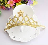 Повязка на голову - корона, золото