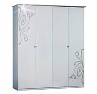Шкаф 4Д Фелиция Новая белый лак (Світ Меблів TM)