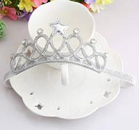 Повязка на голову - корона, серебро