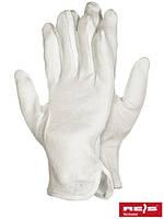 Перчатки для официанта трикотажные белые с напылением RMICRON W