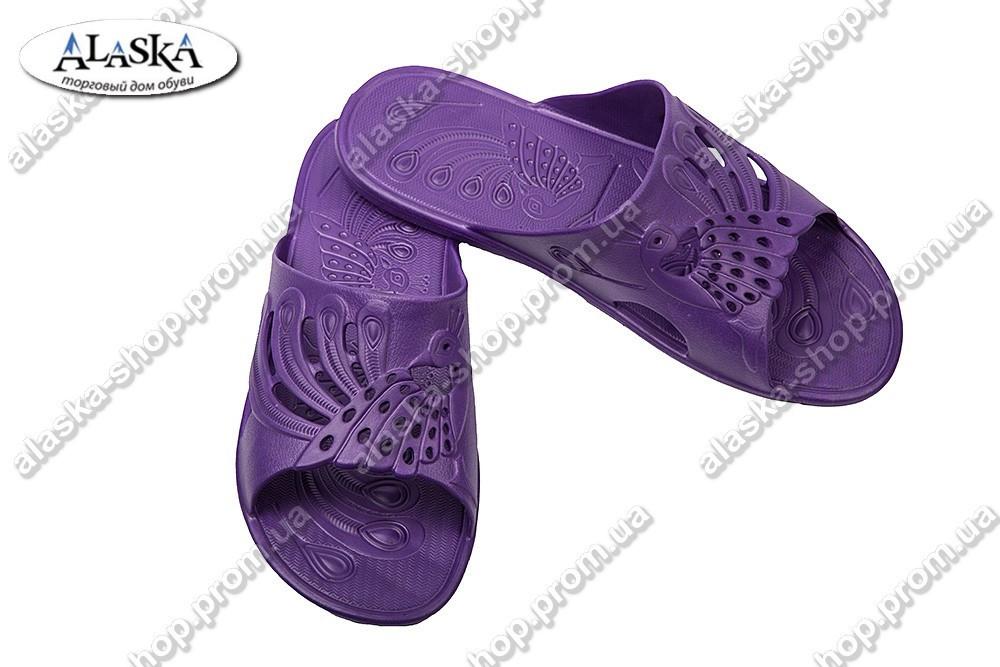 Женские сланцы на тонкой подошве фиолетовые (Код: ПЖ-27)