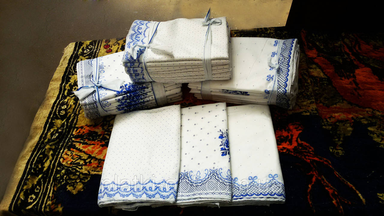 Головной платок белый от 10 штук