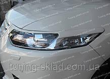 Реснички Хонда Аккорд 8 рестайл (накладки на передние фары Honda Accord 8 рестайл)